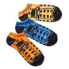 Ladies' Doctor Who Low-Cut Socks 3 pack