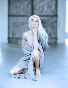 Image result for beautiful older women with long grey hair