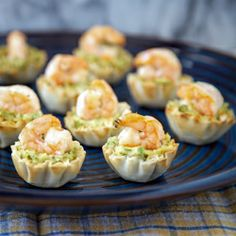 Asparagus Hummus and Shrimp Bites