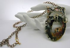 Crystal Cave   Pendant on chain with removable  by mysticafelicity, $49.99
