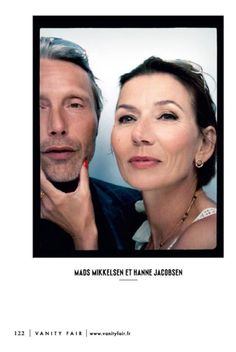 Mads Mikkelsen & wife, Hanne