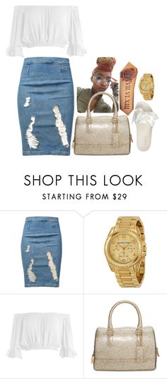 """I slay in every occasion ✨"" by rmanipoooh ❤ liked on Polyvore featuring Frame, Michael Kors, Sans Souci, Furla, Puma and rmanipooh"