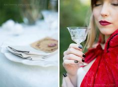 Slip away and into a dreamy storybook styled shoot scene, inspired by the tale of Red Riding Hood and photographed by the lovely Kathrin Gallova. Red Riding Hood, Wedding Shoot, Ideas, Style, Swag, Little Red, Thoughts, Outfits