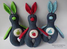 Ручная работа by natulja-best: Джинсовые зайцы. Апгрейд.