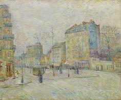 Van Gogh, Boulevard de Clichy, March-April 1887. Oil on canvas, 46 x 55.5 cm. @VanGoghMuseum, Amsterdam.