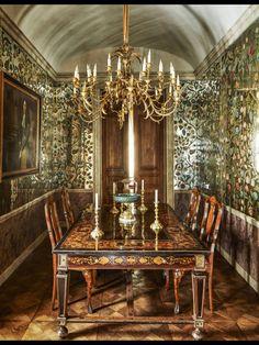 Studio Peregalli dining room in ELLE DECOR
