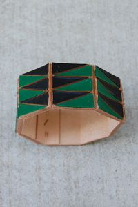 painted leather cuff $120