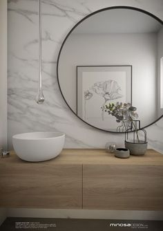 Minosa Design: Powder Room - The WOW bathroom #bathroom #modern #minimalist