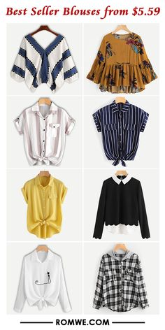 must have tops for fall - romwe.com Girls Fashion Clothes, Teen Fashion Outfits, Fashion Dresses, Clothes For Women, Stylish Dress Designs, Stylish Dresses, Crop Top Outfits, Cute Casual Outfits, Shirts
