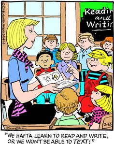 """Hank Ketcham's classic """"Dennis the Menace"""" chronicles the pranks of the mischievous title character."""