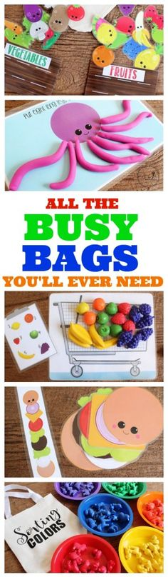 SO MANY FUN (AND FREE) BUSY BAG PRINTABLES! I LOVE IT! Preschool Fun Activities, Toddler Speech Activities, Kids Printable Activities, Toddler Learning Toys, Letter I Activities, Diy Educational Toys For Toddlers, Learning Activities For Toddlers, Learning Numbers Preschool, Fun Printables For Kids