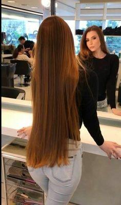 Formal Hairstyles For Long Hair, Long Hair Tips, Long Brown Hair, Long Hair Styles, Straight Red Hair, Long Indian Hair, Long Brunette, Really Long Hair, Rapunzel Hair