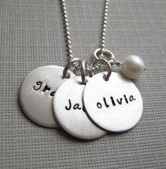 Personalized Mommy Necklace  Hand stamped by jcjewelrydesign, $55.00- going to just casually leave the computer open to this page around mothers day lol