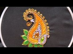 Hand embroidery designs .Aari style embroidery for ghagras, dresses, sarees and blouses. - YouTube
