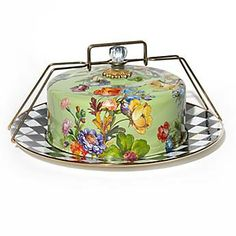 Flower Market Enamel Cake Carrier | Mackenzie-Childs