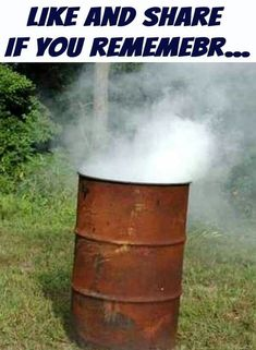 God only knows what we inhaled while adding trash to the burn barrel!