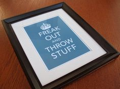 Keep Calm Parody Giclee Art Print No. 2  Freak Out and by Earmark, $ 12.00