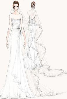 Brides: Designer Sketches of Angelina Jolie's Wedding Dress | Wedding Dresses | Brides.com  www.watters.com