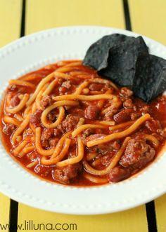 Spaghetti Chili Reci