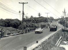 Avenida Cardeal da Silva, em foto antiga.