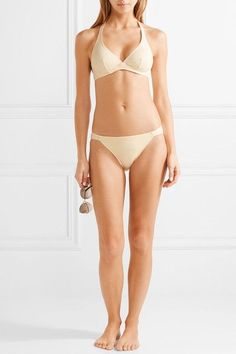 Eres - Les Essentiels Bandito Triangle Bikini Top - Cream - FR