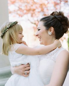 "For her ""mini Disney princess"" flower girl, this bride naturally chose a lovely flower crown fit for royalty."
