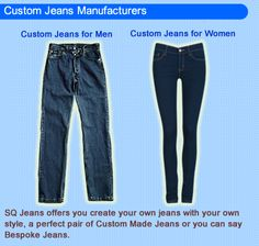 Find Custom Made Jeans for Men and Women