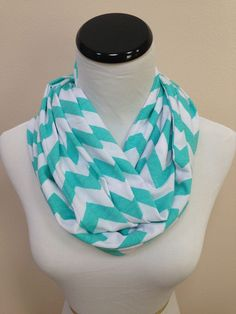 Tiffany Blue Chevron Infinity Scarf – Grace's Boutique