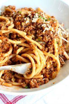 Spaghetti Recipes, Pasta Recipes, Dinner Recipes, Cooking Recipes, Spaghetti Sauce, Dinner Ideas, Beef Bolognese Recipe, Bolognese Sauce, Best Spaghetti Bolognese Recipe