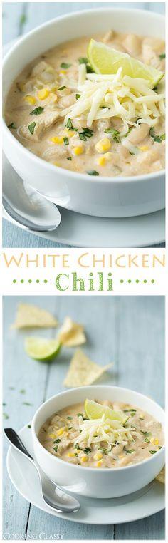 White Chicken Chili - it's creamy and incredibly delicious!