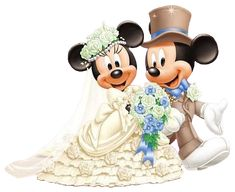 Groom & Bride Mickey & Minnie