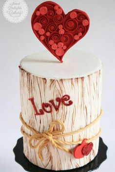 With Love Valentine Cake Tutorial by NIsha Fernando of Sweet Delights Cakery Fondant Icing, Fondant Cakes, Cupcake Cakes, Buttercream Cake, Fancy Cakes, Cute Cakes, Pink Cakes, Sweet Cakes, Super Torte