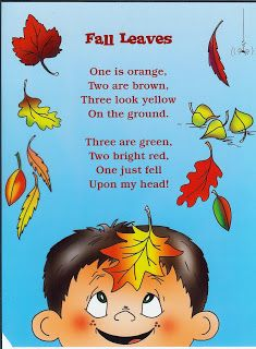 Education - Fall poetry for kids - Grab these 9 poetry ideas to teaching reading this autumn season. Preschool Poems, Kids Poems, Fall Preschool, Preschool Classroom, Preschool Activities, Poetry Activities, Kindergarten Songs, Harvest Poems, Poetry For Kids