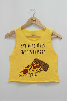 Blusa Cropped Pizza R$ 26,90
