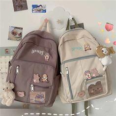 Stylish School Bags, Cute School Bags, Cute School Supplies, Girls School Bags, High School Bags, School Fun, Aesthetic Backpack, Aesthetic Bags, Korean Aesthetic