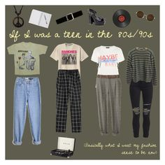 """If I was a teen in the 80s/90s"" by astrological-bear on Polyvore featuring Topshop, AMIRI, Prada, Pôdevache, Yves Saint Laurent and Express"