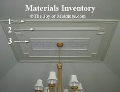Image result for ceiling molding Ceiling Trim, Sloped Ceiling, Moldings And Trim, Moulding, Victorian Kitchen, Victorian Interiors, Master Bedroom Closet, Ceiling Height, The Hamptons