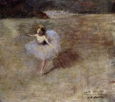 Jean-Louis Forain: Dancer in Pink Tights
