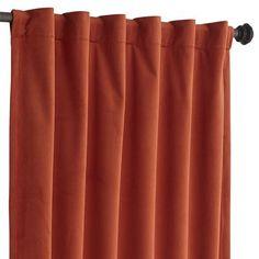 Plush Rod Pocket Curtain - Clay