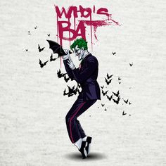Joker & Michael Jackson Mash-up. There's a joke about bleached skin in there, somewhere... #Batman