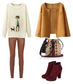 """:)"" by lea-vehabovic ❤ liked on Polyvore featuring moda e Tamara Mellon"