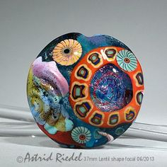 Art Glass 37mm Focal bead- lampwork by Astrid Riedel