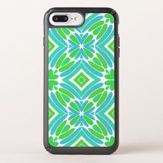Lime Green Aqua Turquoise Retro Fantasy Pattern Speck iPhone Case - trendy gifts cool gift ideas customize