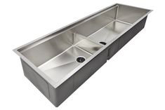 "63"" ledge sink - double bowl - reversible - (5LD63c)"