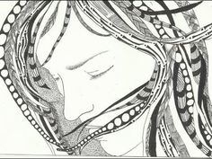 January 20 Zentangle (The Girl With Tangled Hair) - YouTube.