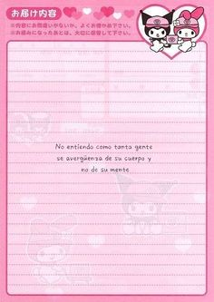 Ig: @crisalida2106 Cute Notes, Good Notes, Kawai Japan, Simbolos Para Nicks, Printable Scrapbook Paper, Free Printable Stationery, Notes Template, Letter Set, Stationery Paper