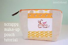 Free Purse Pattern and Tutorial - Scrappy Make-up Pouch