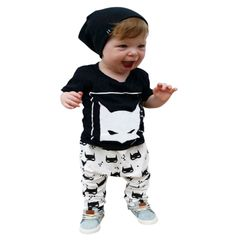 Fashion Lovely Baby Set Descriptions; Fashion Lovely Baby Set Character Cotton Baby Boy Clothes Kids Clothing Set (Pants+T-shirt) Boy Summer Clothes Sets LH7s. Best for your cute little one. Cartoon Infant Baby Boys Clothes Set Boys Printed T-shirt Tops+Pants Summer Outfits 0-5Y