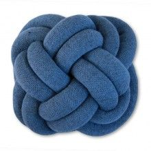 UMEMI NotKnot Turk's Head Cushion Blue Heathered --- NotKnot Good Luck cushion by Umemi.  Designed by Ragnheiður Ösp and is inspired by scout, nautical and decorative knotting. stuffed with woollen cylinders made from Icelandic wool, which makes them warm and soft to touch. Happy cuddling!Quality: high grade Icelandic wool Diameter: 40 cmMade in Iceland