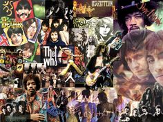 130 Classic Rock tracks from some of the best bands Rock n Roll has to offer. Included is music by AC/DC, Led Zeppelin, and Jimi Hendrix. The Velvet Underground, Creedence Clearwater Revival, Stone Temple Pilots, Jethro Tull, Music Collage, Collage Artists, Collages, 70s Artists, Rock Artists